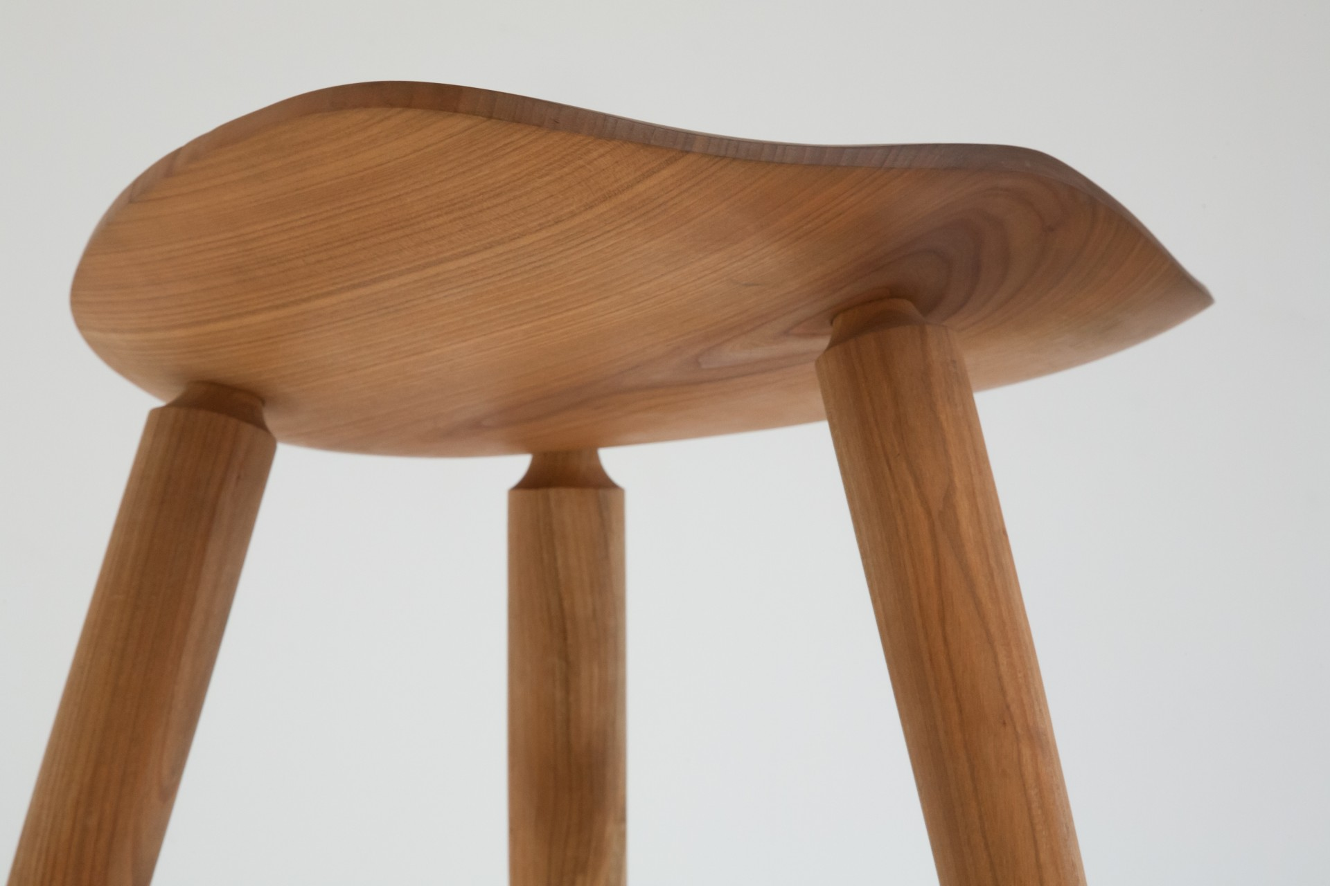 Alejandro  Cherry Wood Stool